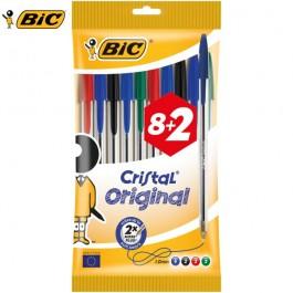 Στυλό Διαρκείας Cristal Medium 1.0mm Bic Σετ 8+2 τεμάχια Στυλό Διαρκείας ειδη γραφειου, αναλωσιμα, γραφικη υλη - paperless.gr