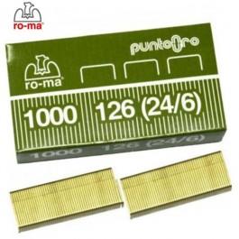 ΣΥΡΜΑΤΑ ΣΥΡΡΑΠΤΙΚΟΥ Νο24/6 - No 126 1000τεμ. ROMA MAESTRI Συρραπτικά - Αποσυρραπτικά ειδη γραφειου, αναλωσιμα, γραφικη υλη - paperless.gr