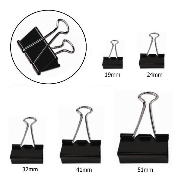 ΚΛΙΠ ΜΕΤΑΛΛΙΚΟ ΜΑΥΡΟ 25mm ΣΕΤ 12 ΤΕΜΑΧΙΩΝ Συνδετήρες - Κλίπ - Ελάσματα ειδη γραφειου, αναλωσιμα, γραφικη υλη - paperless.gr