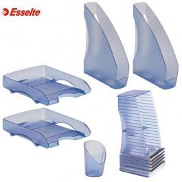 Σετ γραφείου intego esselte διάφανο μπλε Δίσκοι Γραφείου - Σετ Γραφείου ειδη γραφειου, αναλωσιμα, γραφικη υλη - paperless.gr