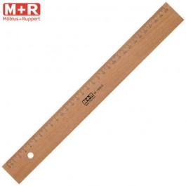 ΧΑΡΑΚΑΣ ΞΥΛΙΝΟΣ 30cm ΜΕ ΜΕΤΑΛΛΙΚΗ ΑΚΜΗ M+R Ψαλίδια - Κοπίδια - Χάρακες ειδη γραφειου, αναλωσιμα, γραφικη υλη - paperless.gr