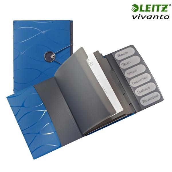 ΝΤΟΣΙΕ ΘΕΜΑΤΩΝ ΠΛΑΣΤΙΚΟ A4  6 ΘΕΜΑΤΩΝ VIVANTO 4532 LEITZ ΜΠΛΕ Ντοσιέ - Δίφυλλα ειδη γραφειου, αναλωσιμα, γραφικη υλη - paperless.gr