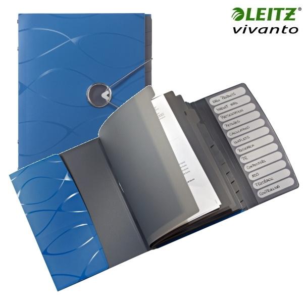 ΝΤΟΣΙΕ ΘΕΜΑΤΩΝ ΠΛΑΣΤΙΚΟ A4 12 ΘΕΜΑΤΩΝ VIVANTO 4533 LEITZ ΜΠΛΕ Ντοσιέ - Δίφυλλα ειδη γραφειου, αναλωσιμα, γραφικη υλη - paperless.gr