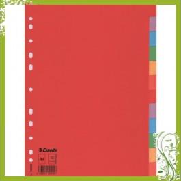 ΔΙΑΧΩΡΙΣΤΙΚΑ ΧΑΡΤΙΝΑ Α4  12 ΘΕΜΑΤΑ ΧΡΩΜΑΤΙΣΤΑ RECYCLED ESSELTE Διαχωριστικά ειδη γραφειου, αναλωσιμα, γραφικη υλη - paperless.gr