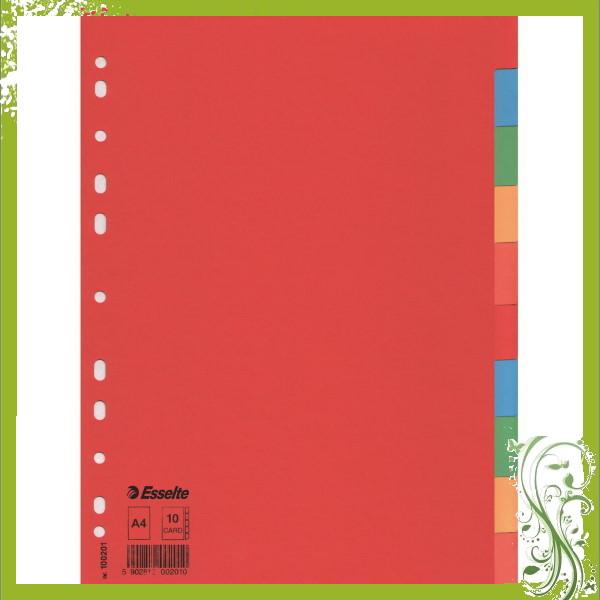 ΔΙΑΧΩΡΙΣΤΙΚΑ ΧΑΡΤΙΝΑ Α4  10 ΘΕΜΑΤΑ ΧΡΩΜΑΤΙΣΤΑ RECYCLED ESSELTE Διαχωριστικά ειδη γραφειου, αναλωσιμα, γραφικη υλη - paperless.gr