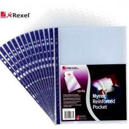 ΘΗΚΗ ΕΝΙΣΧΥΜΕΝΗ Α4+ ΑΝΟΙΓΜΑ EΠΑΝΩ REXEL 12233 100 TEMAXIA Ζελατίνες-Θήκες Πλαστικές ειδη γραφειου, αναλωσιμα, γραφικη υλη - paperless.gr