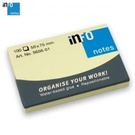 ΑΥΤΟΚΟΛΛΗΤΑ ΧΑΡΤΑΚΙΑ  50X 75mm Info-notes 5656 100Φ ΚΙΤΡΙΝΟ Αυτοκόλλητα Χαρτάκια-Κύβοι ειδη γραφειου, αναλωσιμα, γραφικη υλη - paperless.gr