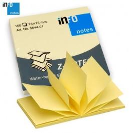 ΑΥΤΟΚΟΛΛΗΤΑ ΧΑΡΤΑΚΙΑ  75X 75mm Info-notes ZIG-ZAG 5644 100Φ Αυτοκόλλητα Χαρτάκια-Κύβοι ειδη γραφειου, αναλωσιμα, γραφικη υλη - paperless.gr