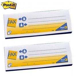 ΑΥΤΟΚΟΛΛΗΤΑ ΧΑΡΤΑΚΙΑ Post-it FAX 7690 3M 2 TEMAXIA Αυτοκόλλητα Χαρτάκια-Κύβοι ειδη γραφειου, αναλωσιμα, γραφικη υλη - paperless.gr