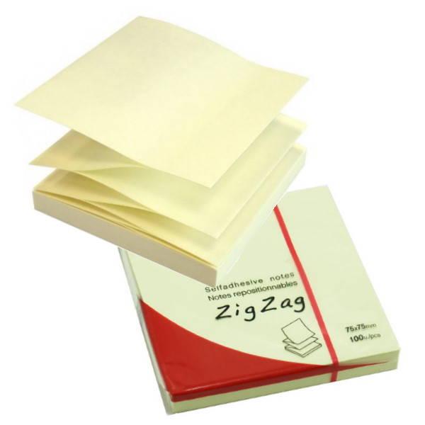 ΑΥΤΟΚΟΛΛΗΤΑ ΧΑΡΤΑΚΙΑ  76X 76mm MEMO Z-NOTES ZIG-ZAG 4330 100Φ Αυτοκόλλητα Χαρτάκια-Κύβοι ειδη γραφειου, αναλωσιμα, γραφικη υλη - paperless.gr