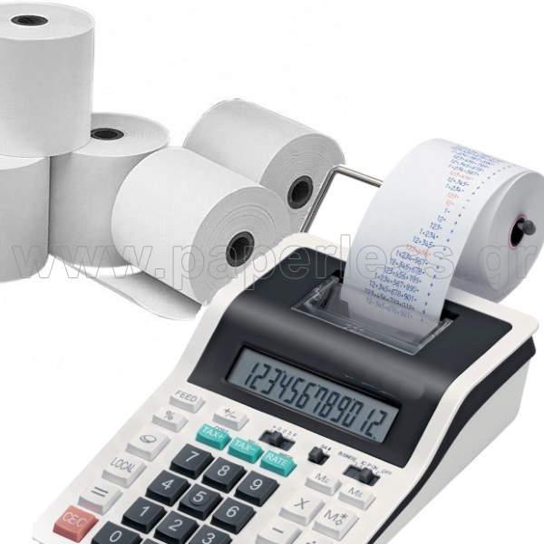 ΧΑΡΤΟΤΑΙΝΙΑ ΑΠΛΗ ΡΟΛΑ ΑΡΙΘΜΟΜΗΧΑΝΩΝ 57Χ60 10 ρολά Χαρτοταινίες Απλές ειδη γραφειου, αναλωσιμα, γραφικη υλη - paperless.gr