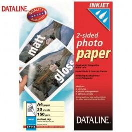 ΧΑΡΤΙ Α4 INKJET PHOTO 2-ΟΨΕΩΝ 2-SIDED 150gr 20 ΦΥΛΛΑ DATALINE Ειδικά Χαρτιά Εκτυπώσεων ειδη γραφειου, αναλωσιμα, γραφικη υλη - paperless.gr