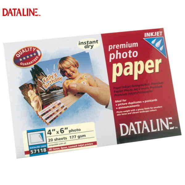 ΧΑΡΤΙ Α6 INKJET PHOTO GLOSSY 177gr 20 ΦΥΛΛΑ DATALINE Ειδικά Χαρτιά Εκτυπώσεων ειδη γραφειου, αναλωσιμα, γραφικη υλη - paperless.gr