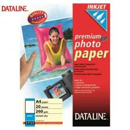 ΧΑΡΤΙ Α4 INKJET PHOTO GLOSS 260gr 20 ΦΥΛΛΑ DATALINE Ειδικά Χαρτιά Εκτυπώσεων ειδη γραφειου, αναλωσιμα, γραφικη υλη - paperless.gr