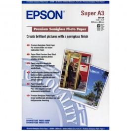 ΧΑΡΤΙ Α3+ INKJET PREMIUM SEMI GLOSS 251g 20ΦΥΛ EPSON C13S041328 Ειδικά Χαρτιά Εκτυπώσεων ειδη γραφειου, αναλωσιμα, γραφικη υλη - paperless.gr