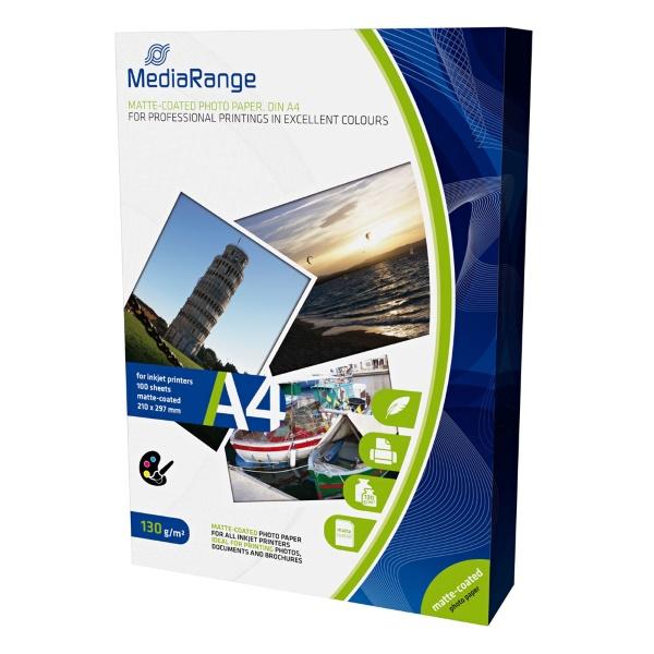 Χαρτί a4 inkjet photo matte 130g/m² 100 φύλλα MediaRange MRINK101 Ειδικά Χαρτιά Εκτυπώσεων ειδη γραφειου, αναλωσιμα, γραφικη υλη - paperless.gr