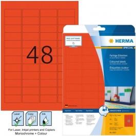 Ετικέτες Laser/Copier/Inkjet 45,7x 21,2 mm 20 φύλλα Κόκκινο 4367 Herma Χάρτινες ετικέτες ειδη γραφειου, αναλωσιμα, γραφικη υλη - paperless.gr