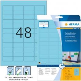 Ετικέτες Laser/Copier/Inkjet  45,7x 21,2 mm 20 φύλλα Μπλε 4368 Herma  Χάρτινες ετικέτες ειδη γραφειου, αναλωσιμα, γραφικη υλη - paperless.gr