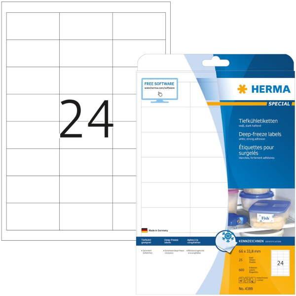 ΕΤΙΚΕΤΕΣ INKJET/LASER/COPIER  66,0Χ 33,8 DEEP FREEZE 4389 HERMA Ετικέτες Ειδικής Χρήσης ειδη γραφειου, αναλωσιμα, γραφικη υλη - paperless.gr