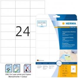 ΕΤΙΚΕΤΕΣ LASER/COPIER  70,0x 37,0 ΔΙΑΦΑΝΕΣ matt 25ΦΥΛ HERMA 4685 Διαφανείς ετικέτες ειδη γραφειου, αναλωσιμα, γραφικη υλη - paperless.gr