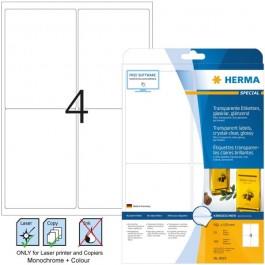 Ετικέτες laser/copier  99,1x139,0 διαφανές glossy 25 φύλλα herma 8019 Διαφανείς ετικέτες ειδη γραφειου, αναλωσιμα, γραφικη υλη - paperless.gr
