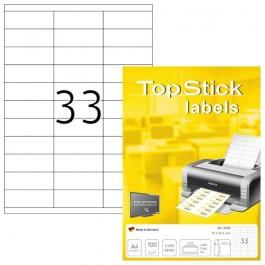 ΕΤΙΚΕΤΕΣ Laser/Copier/InkJet  70,0χ 25,4 100 ΦΥΛΛΑ 8702 TOPSTICK Χάρτινες ετικέτες ειδη γραφειου, αναλωσιμα, γραφικη υλη - paperless.gr
