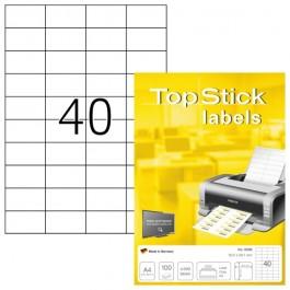 ΕΤΙΚΕΤΕΣ Laser/Copier/InkJet  52,5χ 29,7 100 ΦΥΛΛΑ 8698 TOPSTICK Χάρτινες ετικέτες ειδη γραφειου, αναλωσιμα, γραφικη υλη - paperless.gr