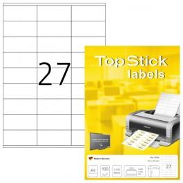 ΕΤΙΚΕΤΕΣ Laser/Copier/InkJet  70,0χ 32,0 100 ΦΥΛΛΑ 8704 TOPSTICK Χάρτινες ετικέτες ειδη γραφειου, αναλωσιμα, γραφικη υλη - paperless.gr
