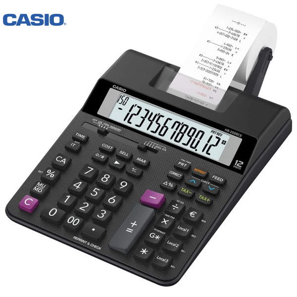 Αριθμομηχανή με χαρτοταινία HR-200RCE Casio 12 Ψηφίων Αριθμομηχανές ειδη γραφειου, αναλωσιμα, γραφικη υλη - paperless.gr