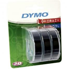 ΕΤΙΚΕΤΕΣ DYMO ΑΝΑΓΛΥΦΗΣ ΕΚΤΥΠΩΣΗΣ 3D  9mm x 3m ΣΕΤ 3 ΤΕΜΑΧΙΑ ΜΑΥΡΟ Ετικετογράφοι-Ετικέτες Ετικετογράφων ειδη γραφειου, αναλωσιμα, γραφικη υλη - paperless.gr