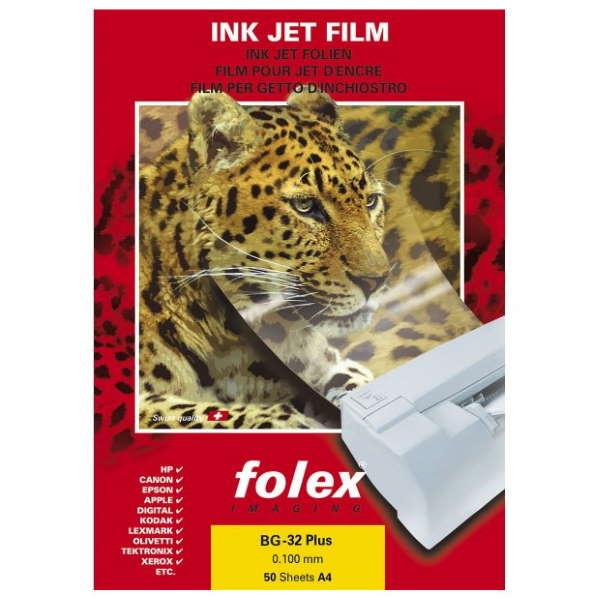 Διαφάνεια εκτύπωσης α4 inkjet bg-32 plus 50 τεμάχια folex Προβολείς Διαφανειών-Διαφάνειες ειδη γραφειου, αναλωσιμα, γραφικη υλη - paperless.gr