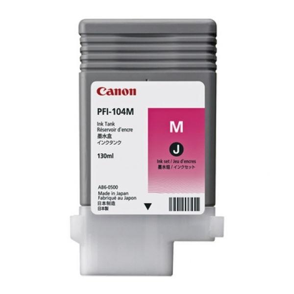 ΜΕΛΑΝΙ CANON PFI-104M 3631B001 MAGENTA 130ml Canon inkjet ειδη γραφειου, αναλωσιμα, γραφικη υλη - paperless.gr