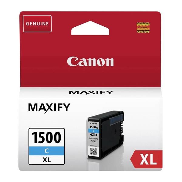 ΜΕΛΑΝΙ CANON PGI-1500XL CYAN ~1020p 9193B001 Canon inkjet ειδη γραφειου, αναλωσιμα, γραφικη υλη - paperless.gr