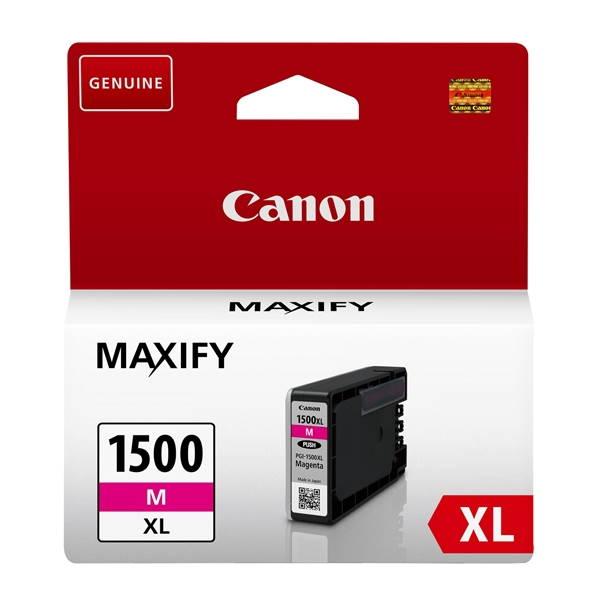 ΜΕΛΑΝΙ CANON PGI-1500XL MAGENTA ~1020p 9194B001 Canon inkjet ειδη γραφειου, αναλωσιμα, γραφικη υλη - paperless.gr