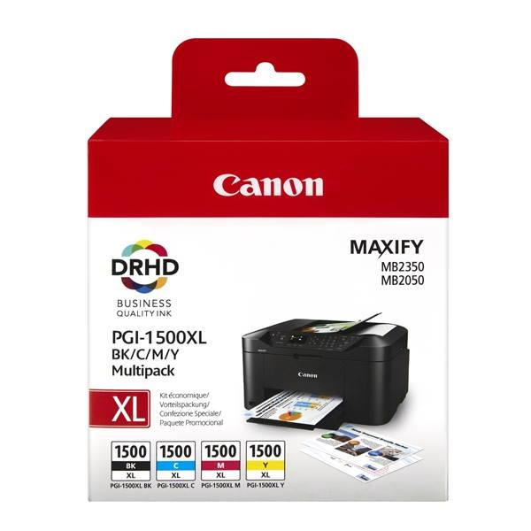 Μελάνι Canon pgi-1500xl (Bk-c-m-y) Multipack Canon inkjet ειδη γραφειου, αναλωσιμα, γραφικη υλη - paperless.gr