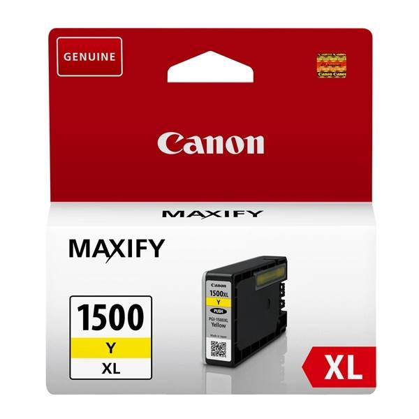 ΜΕΛΑΝΙ CANON PGI-1500XL YELLOW ~1020p 9195B001 Canon inkjet ειδη γραφειου, αναλωσιμα, γραφικη υλη - paperless.gr