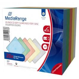 Θήκη CD πλαστική soft Slimcase μονή 5 χρώματα Σετ 20 τεμάχια  Θήκες CD-DVD ειδη γραφειου, αναλωσιμα, γραφικη υλη - paperless.gr