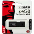 USB Flash Drive Kingston Data Traveler 100 G3 64GB USB 3.0 Flash Drive USB FLASH DRIVE / HDD ειδη γραφειου, αναλωσιμα, γραφικη υλη - paperless.gr