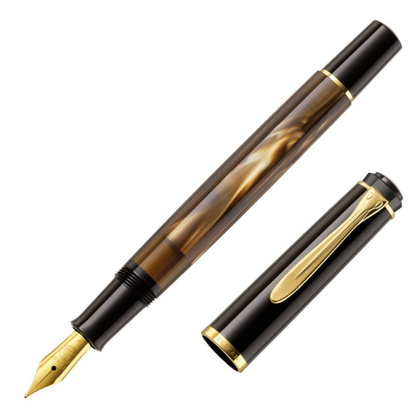 m200 brown marbled fountain pen pelikan πενα Στυλογράφοι-Πένες ειδη γραφειου, αναλωσιμα, γραφικη υλη - paperless.gr