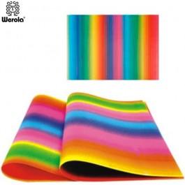 ΧΑΡΤΟΝΙ ΟΝΤΟΥΛΕ ΧΡΩΜΑΤΙΣΤΟ RAINBOW 50x70εκ WEROLA Ζωγραφική - Χειροτεχνία ειδη γραφειου, αναλωσιμα, γραφικη υλη - paperless.gr