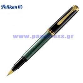 R400 SOUVERAN BLACK GREEN ROLLER BALL PELIKAN ΣΤΥΛΟ Στυλογράφοι-Πένες ειδη γραφειου, αναλωσιμα, γραφικη υλη - paperless.gr