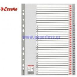 ΔΙΑΧΩΡΙΣΤΙΚΑ ΠΛΑΣΤΙΚΑ Α4 1-31 ΑΡΙΘΜΗΤΙΚΑ ΓΚΡΙ ESSELTE Διαχωριστικά ειδη γραφειου, αναλωσιμα, γραφικη υλη - paperless.gr