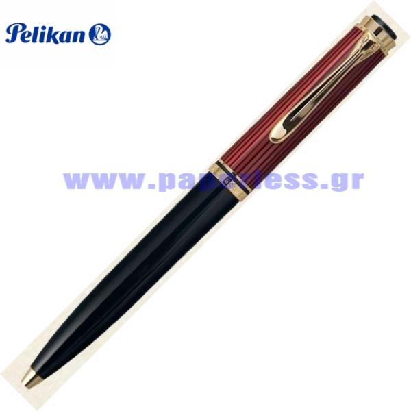 D800 SOUVERAN BLACK RED PENCIL PELIKAN ΜΟΛΥΒΙ Στυλογράφοι-Πένες ειδη γραφειου, αναλωσιμα, γραφικη υλη - paperless.gr