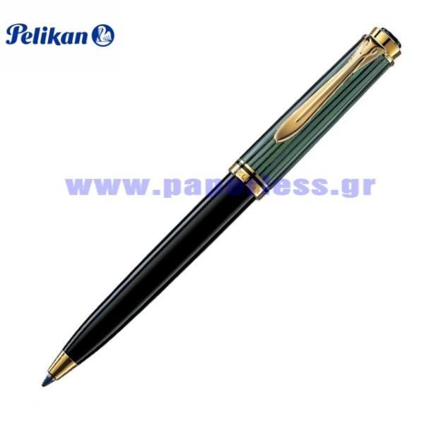K300 SOUVERAN BLACK GREEN BALL PEN PELIKAN ΣΤΥΛΟ Στυλογράφοι-Πένες ειδη γραφειου, αναλωσιμα, γραφικη υλη - paperless.gr