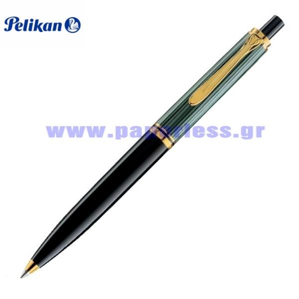 K400 SOUVERAN BLACK GREEN BALL PEN PELIKAN ΣΤΥΛΟ Στυλογράφοι-Πένες ειδη γραφειου, αναλωσιμα, γραφικη υλη - paperless.gr