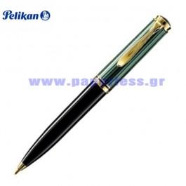 K600 SOUVERAN BLACK GREEN BALL PEN PELIKAN ΣΤΥΛΟ Στυλογράφοι-Πένες ειδη γραφειου, αναλωσιμα, γραφικη υλη - paperless.gr
