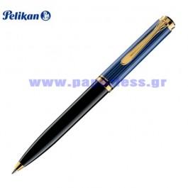 K800 SOUVERAN BLACK BLUE BALL PEN PELIKAN ΣΤΥΛΟ Στυλογράφοι-Πένες ειδη γραφειου, αναλωσιμα, γραφικη υλη - paperless.gr