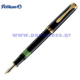 M400 SOUVERAN BLACK FOUNTAIN PEN PELIKAN ΠΕΝΑ Στυλογράφοι-Πένες ειδη γραφειου, αναλωσιμα, γραφικη υλη - paperless.gr