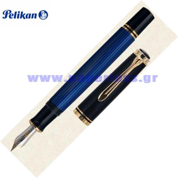 M600 SOUVERAN BLACK BLUE FOUNTAIN PEN PELIKAN ΠΕΝΑ Στυλογράφοι-Πένες ειδη γραφειου, αναλωσιμα, γραφικη υλη - paperless.gr
