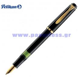 M600 SOUVERAN BLACK FOUNTAIN PEN PELIKAN ΠΕΝΑ Στυλογράφοι-Πένες ειδη γραφειου, αναλωσιμα, γραφικη υλη - paperless.gr